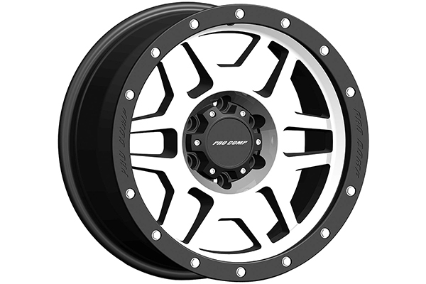 pro comp phaser 41 series alloy wheels stain black with machined face sample