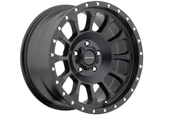 pro comp rockwell 5034 series alloy wheels satin black hero