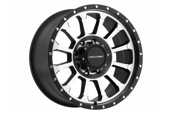 pro comp series 34 rockwell alloy wheels machined sample
