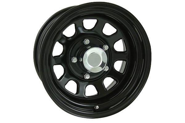pro comp 51 series rock crawler steel wheels gloss black