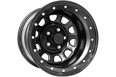 pro comp 252 series rock crawler steel wheels flat black sample