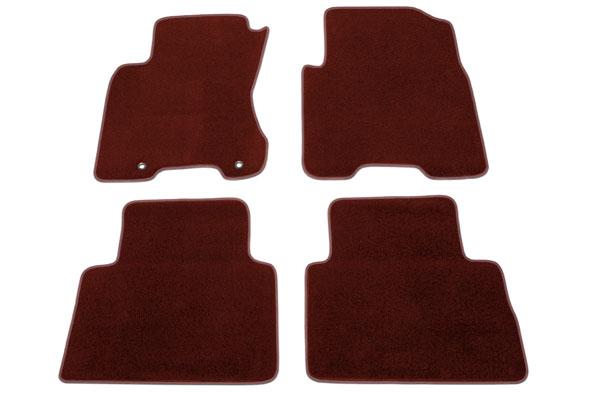 proz premium custom front rear Burgundy floor mat sample