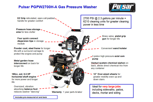 pulsar PGPW2700H-A 2
