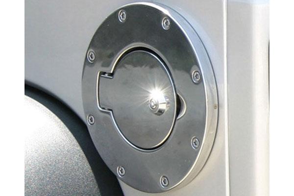 Polished Locking Fuel Door