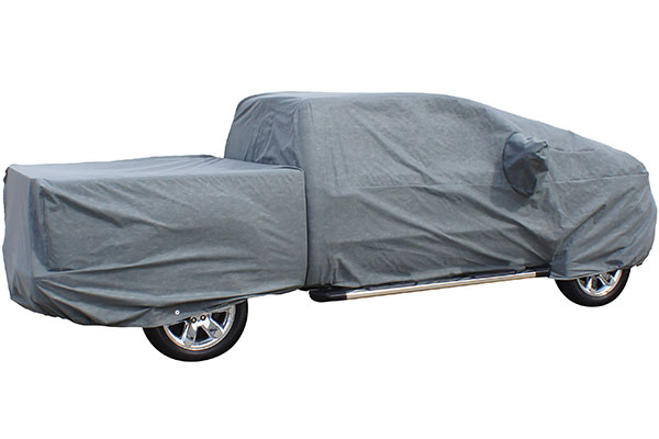 rampage easyfit 4 layer truck cover cab and bed section sample