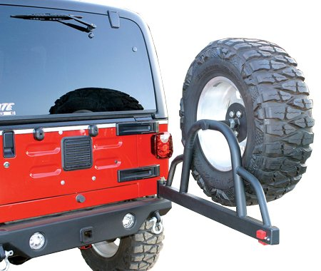 rampage jeep recovery bumper rear with swing away tire mount 76610