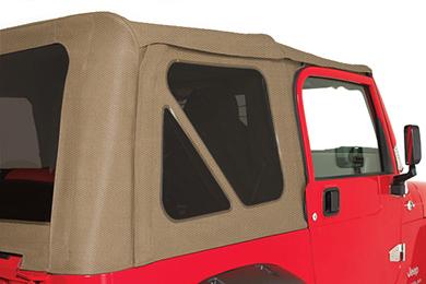 rampage jeep fabric diamond khaki tinted