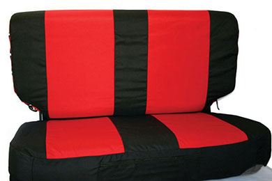 rampage neoprene seat covers combo red black back v2