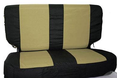 rampage neoprene seat covers combo tan black v2