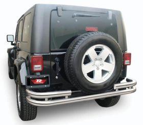 rampage tubular bumper stainless rear 86448