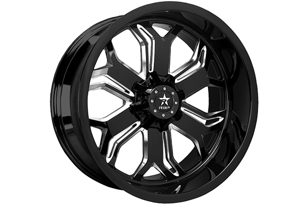 rbp blade wheels gloss black with machined grooves sample