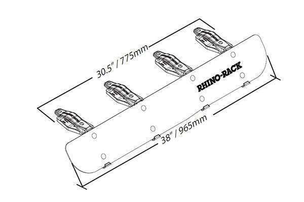 rhino-rack rf2 - rhino-rack fairings