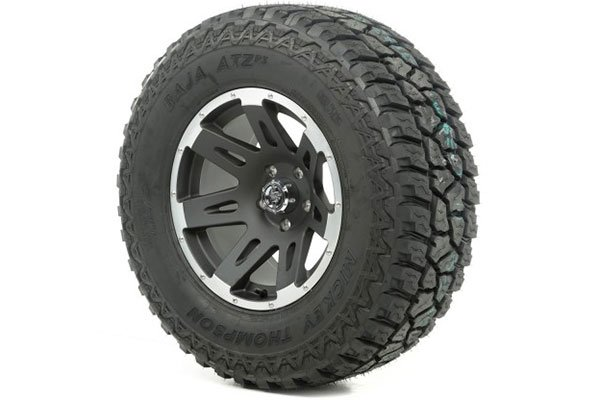 rugged ridge xhd wheel tire package black machined accents sample
