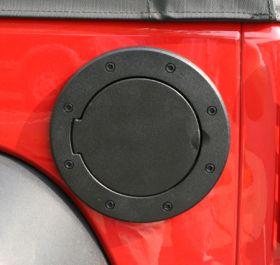 rugged ridge fuel door black nolock