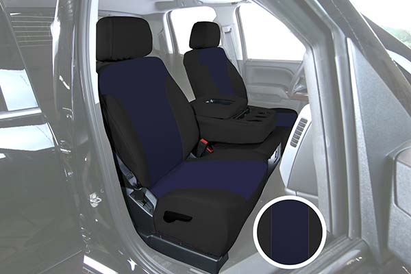 saddleman canvas seat covers blue black sample