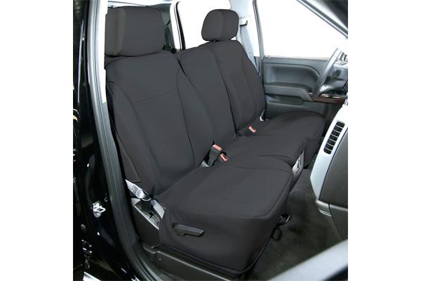 saddleman leatherette seat covers black sample