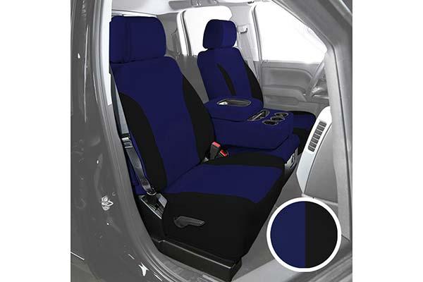 saddleman neosupreme seat covers black blue sample
