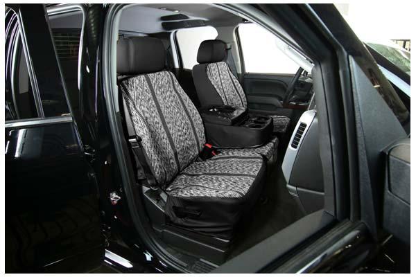 saddleman saddle blanket seat covers black sample