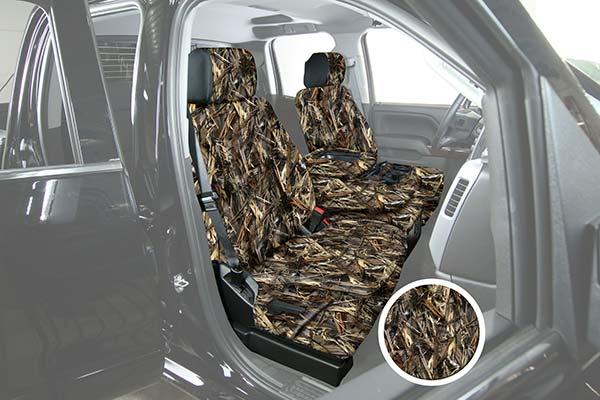 saddleman surefit camo canvas seat covers drt sample
