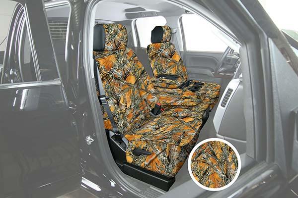 saddleman surefit camo canvas seat covers mc2 blaze sample