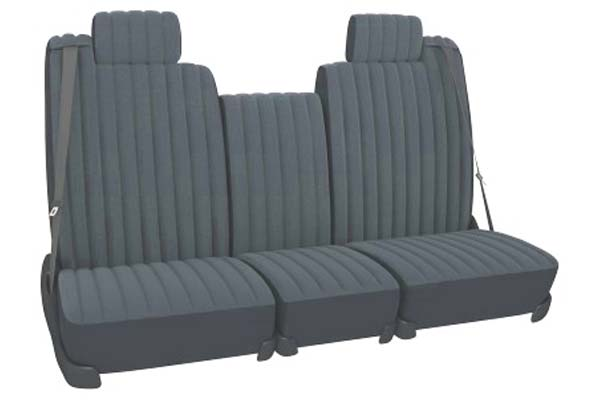 Seat Designs Velour Seat Covers in Grey, Rear Seat Cover