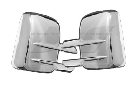 ses chrome mirror covers mc123f