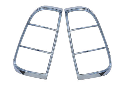 ses chrome trim tail light covers ford-superduty-08-tl140 01