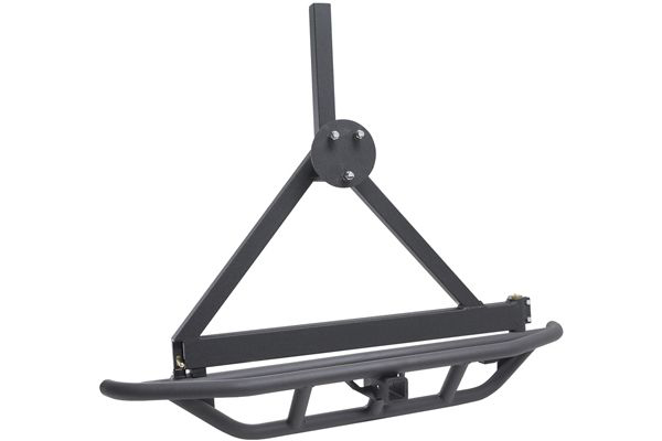 smittybilt src jeep bumpers rear with tire carrier 76621