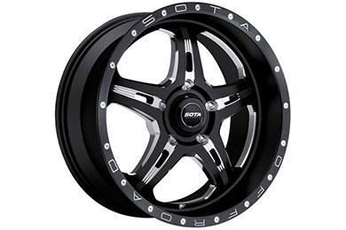 sota fite wheels 5 lug death metal black sample