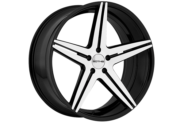 sothis sc4 wheels gloss black with machined face
