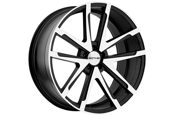 sothis wheels sc1 gloss black with machined face