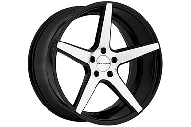 sothis sc5 wheels gloss black with machined face sample