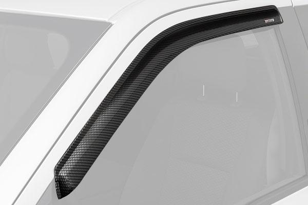 stampede tape-onz carbon fiber side window deflectors front sample