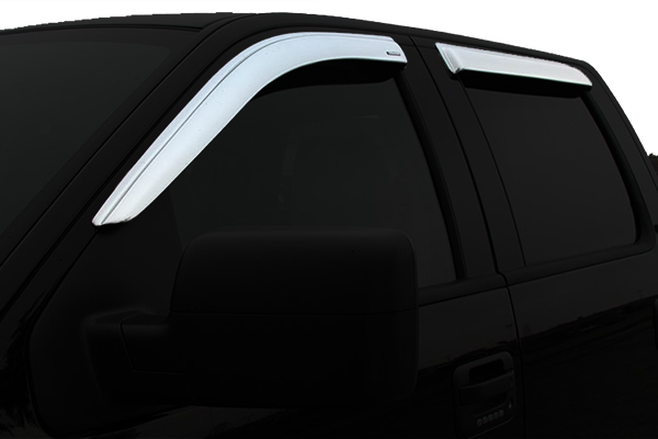stampede tapeonz chrome window deflectors front rear sample