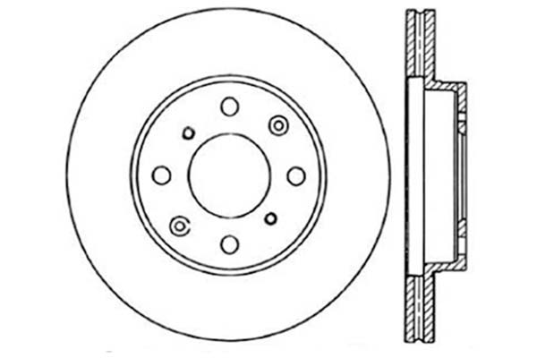 stoptech 128 40023cr - stoptech drilled brake rotors