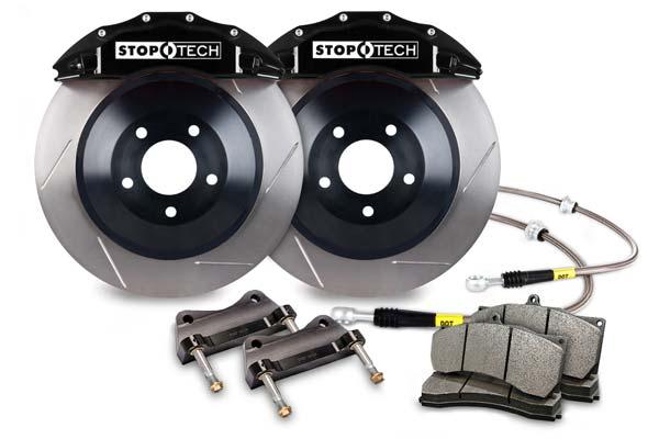 stoptech touring big brake kit 6 piston black slotted sample