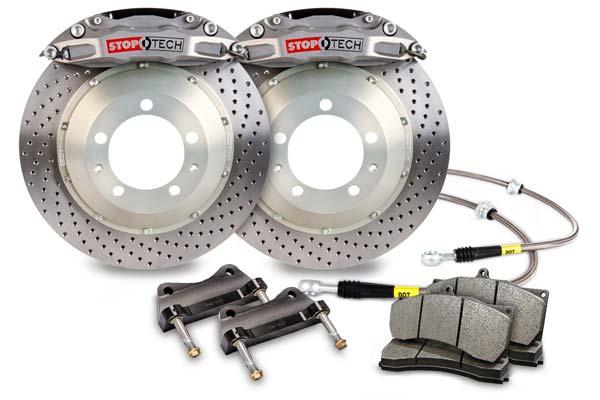 stoptech trophy sport big brake kit 4 piston drilled sample