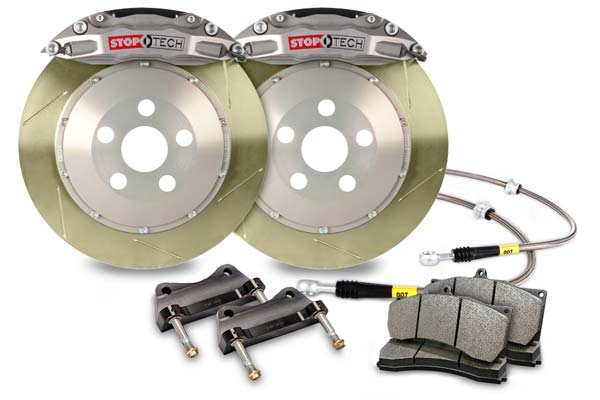 stoptech trophy sport big brake kit 4 piston slotted zinc coated sample