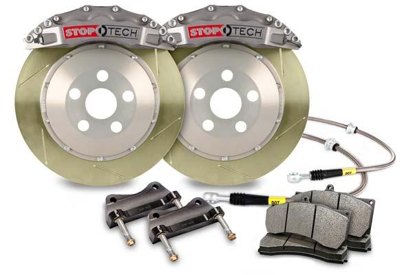 stoptech trophy sport big brake kit 6 piston slotted zinc coated sample