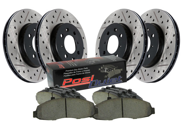stoptech drilled and slotted street brake kit 4 wheel kit sample