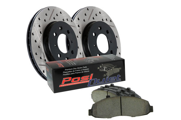 stoptech drilled and slotted street brake kit rear brake kit sample