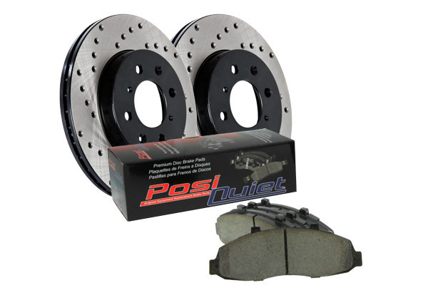 stoptech drilled street brake kit front sample