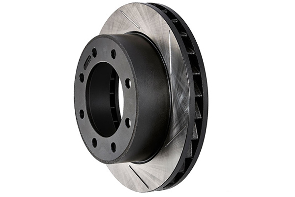 stoptech sportstop cryo slotted brake rotors left