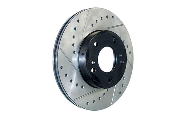 stoptech sportstop drilled slotted brake rotors right