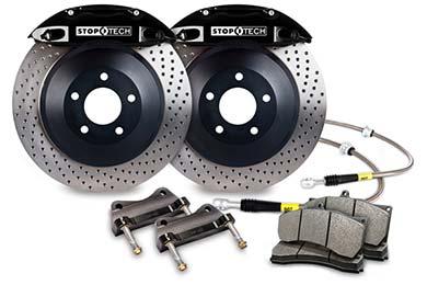 stoptech touring big brake kit 4 piston black drilled sample