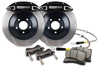 stoptech touring big brake kit 4 piston black slotted sample
