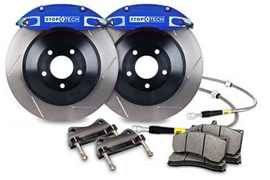 stoptech touring big brake kit 4 piston blue slotted sample