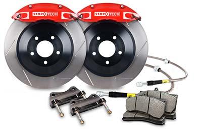 stoptech touring big brake kit 4 piston red slotted sample