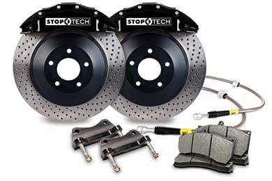 stoptech touring big brake kit 6 piston black drilled sample