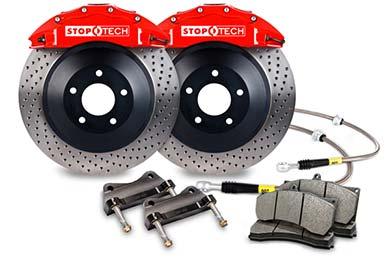 stoptech touring big brake kit 6 piston red drilled sample